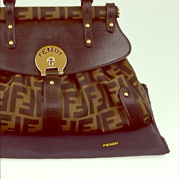6918bf7af32c Pre-owned Authentic Fendi Zucca Medium Bag. Listing Price   275